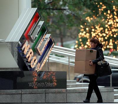 Enron Employee leaving work--was SHE responsible?